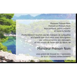 Carte de Remerciements - PP7